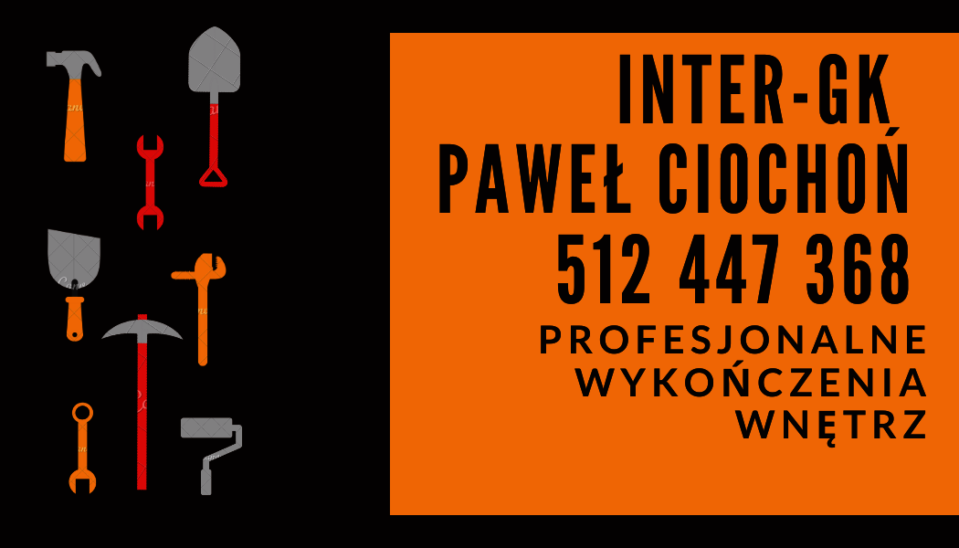 Orange and Black Construction Business Card